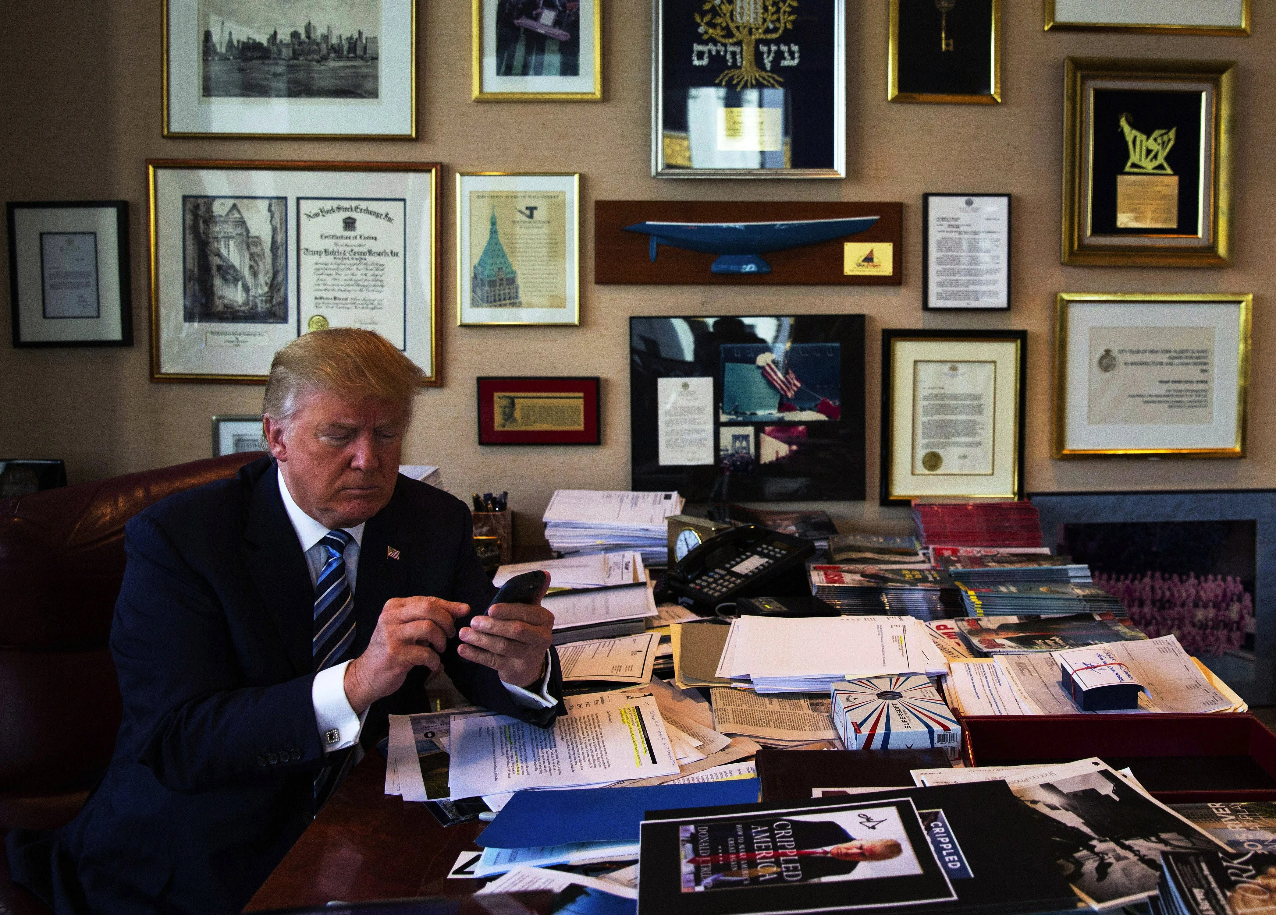 Image result for donald trump tweeting