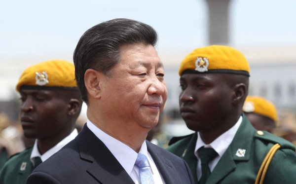 Chinese leader Xi Jinping welcomed in cash-strapped ...