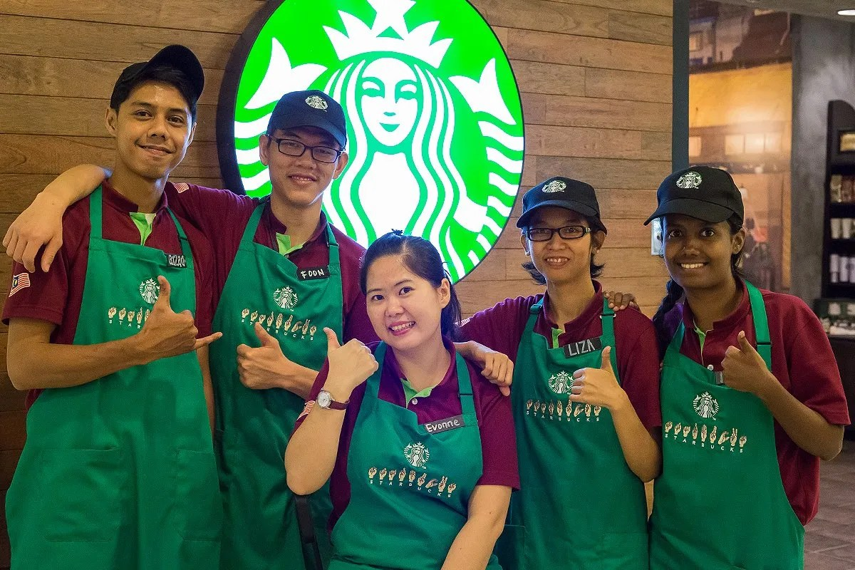 A Starbucks store in Kuala Lumpur, Malaysia, has become the first in the coffee chain to focus on employment opportunities for those who are deaf and hard of hearing. (Courtesy of Starbucks)