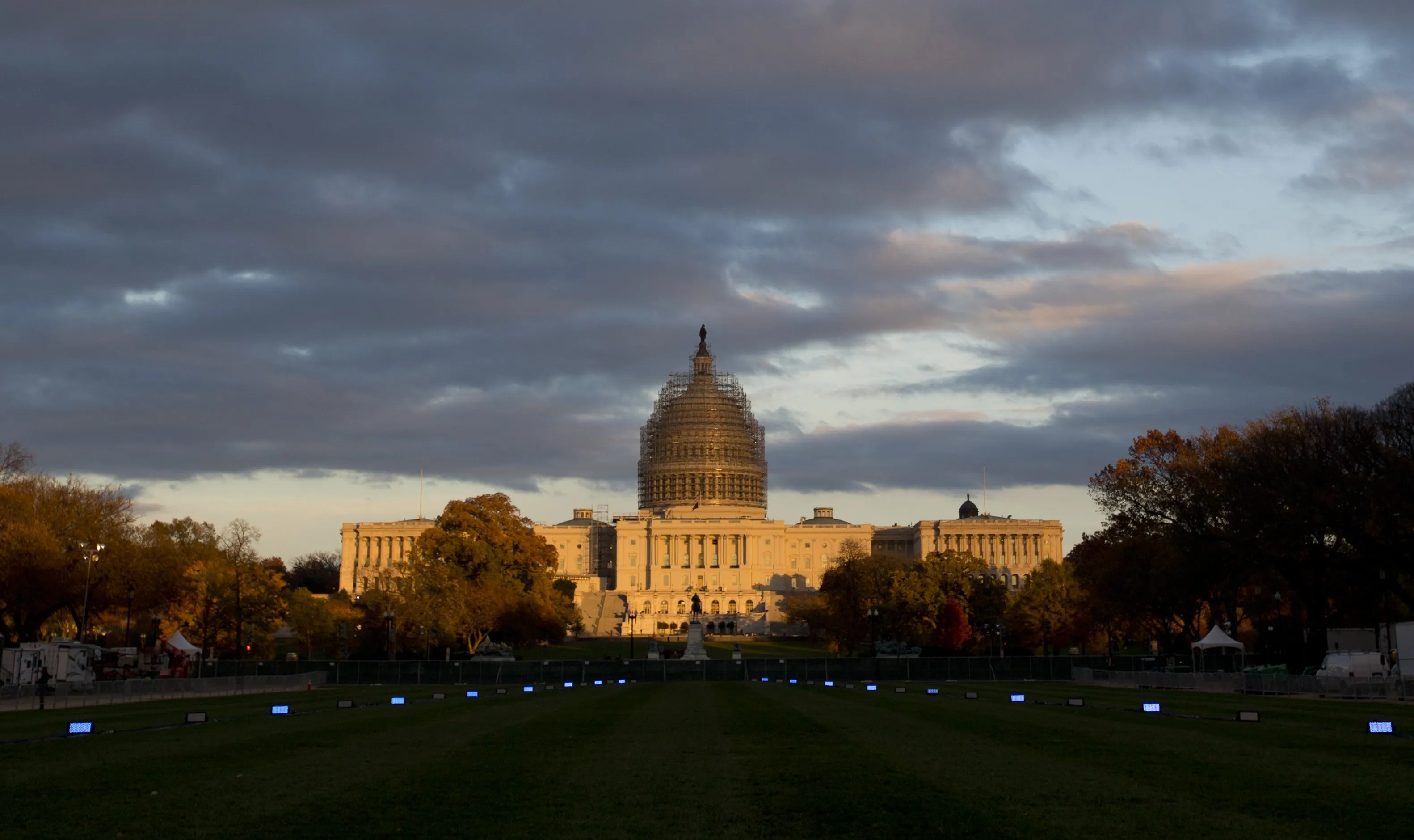 The U.S. Capitol illuminated by the setting sun on the National Mall in Washington. (Carolyn Kaster/AP)