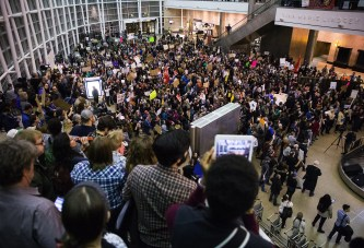 seattle protests against trump refugee policy