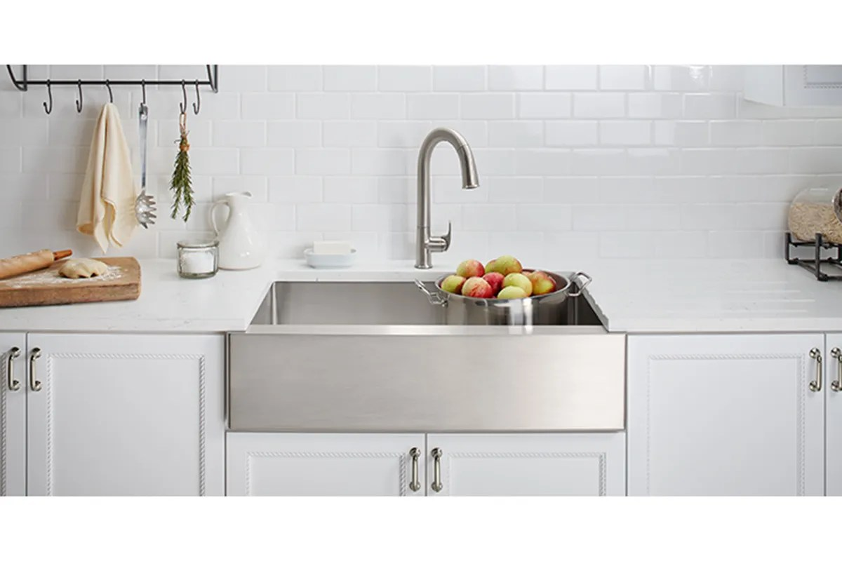 stainless steel farmhouse sink is a