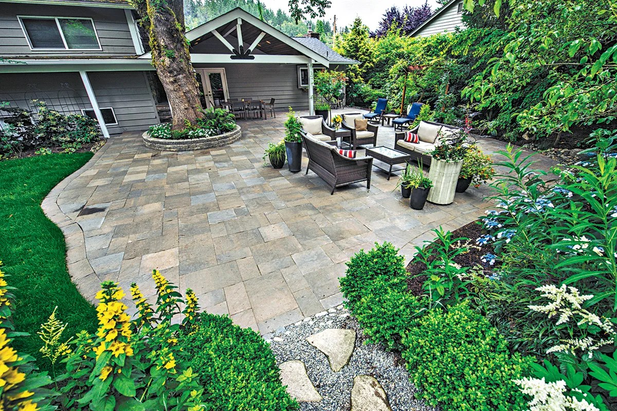 take the fun outside with a paver patio