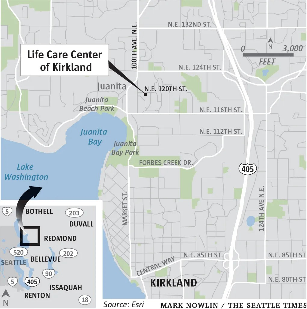 First days at the heart of an outbreak: Life Care nursing ... on Life Care Center Of Kirkland id=47920