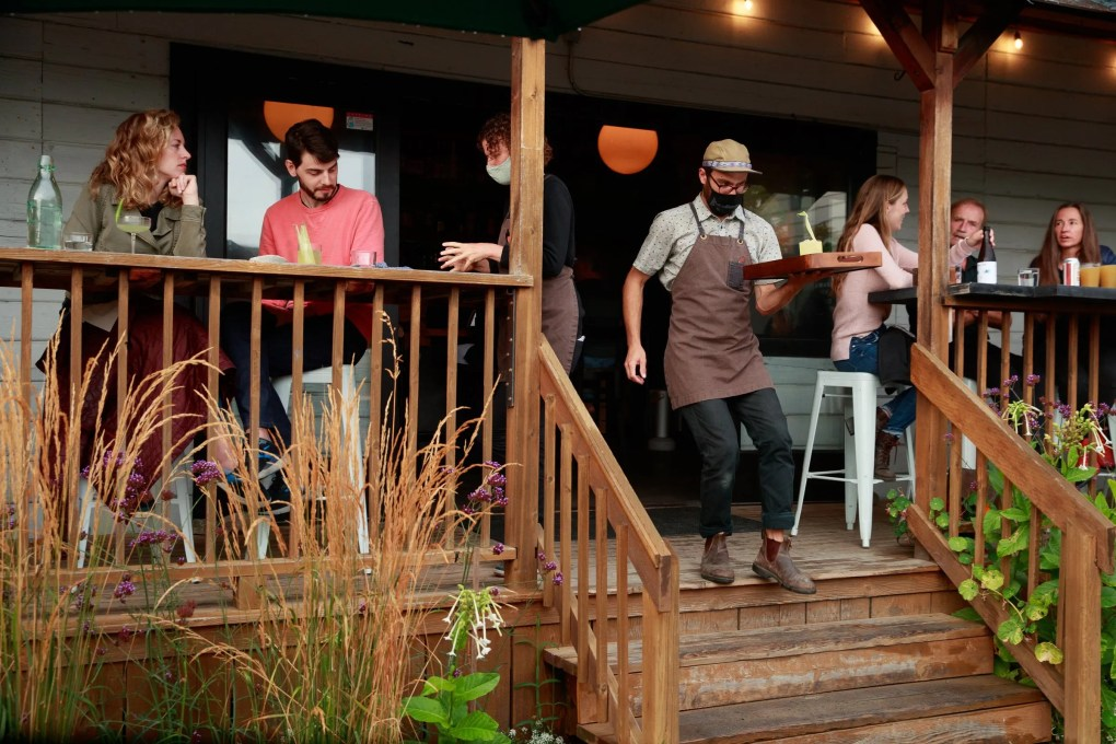 Traffic has only increased at Matia Kitchen & Bar in Eastsound, Orcas Island since a New York Times writer extolled it on social media.  (Erika Schultz / The Seattle Times)