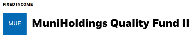 BlackRock MuniHoldings Quality Fund II: А Quality Municipal Closed-End Fund For Your Portfolio - BlackRock MuniHoldings Qualty Fund II (NYSE:MUE)