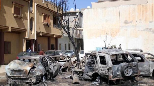 Image result for libya oil fields destruction