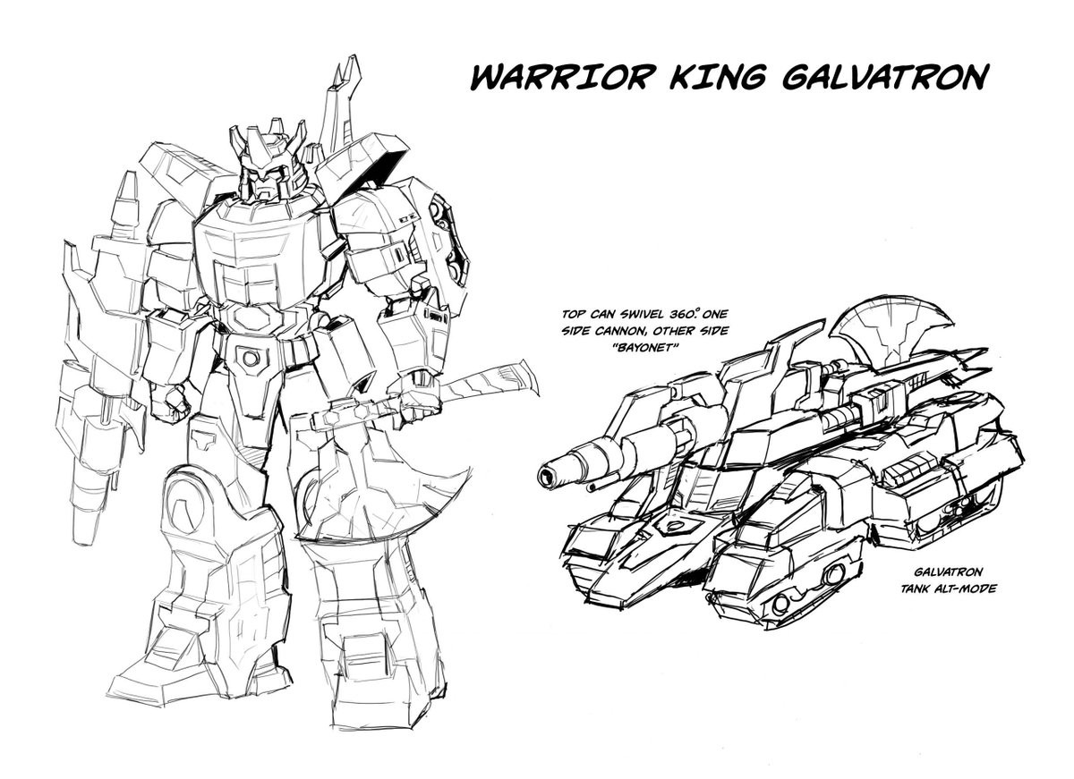 Idw Galvatron Warrior King Designs By Casey Coller