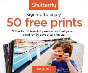 Shutterfly 50 Free Prints 300x250