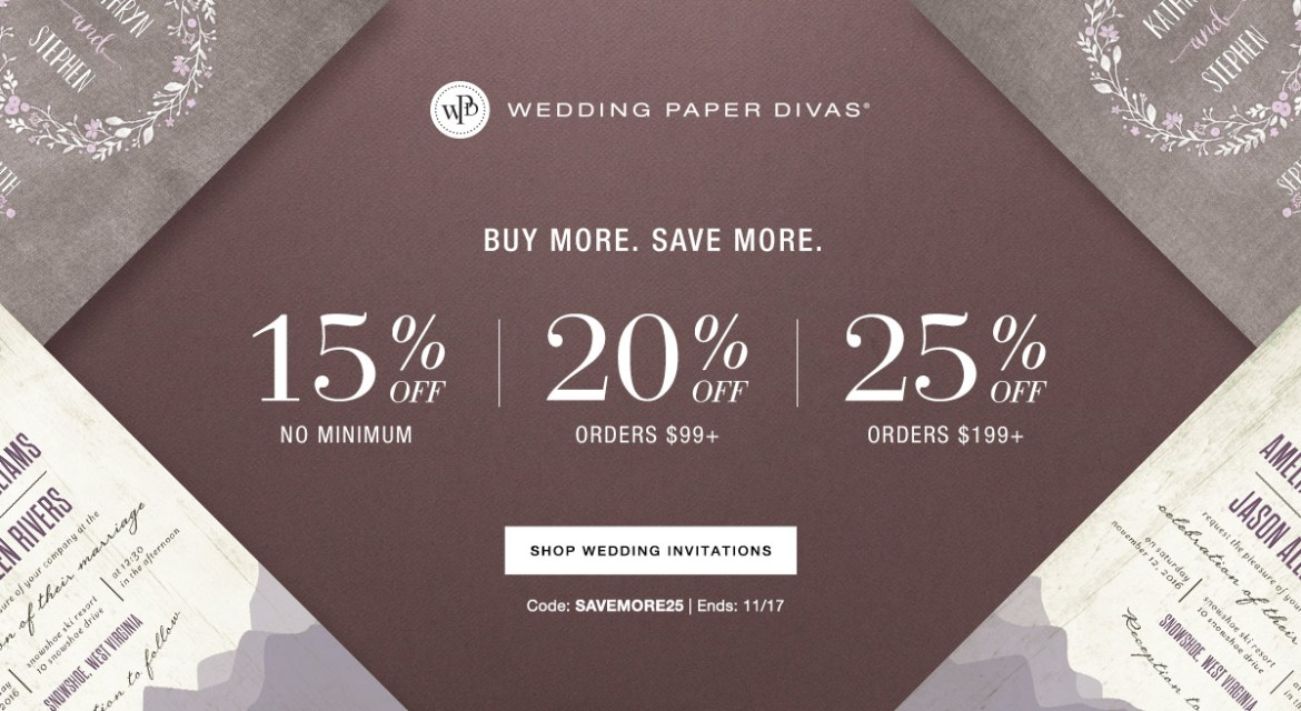Wedding Paper Divas - Up to 25% Off