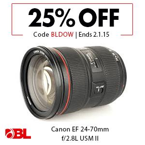 Canon EF 24-70mm f/2.8L USM II Lens