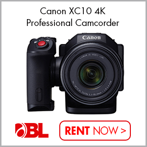 Rent Now! Canon XC10 4K Professional Camcorder