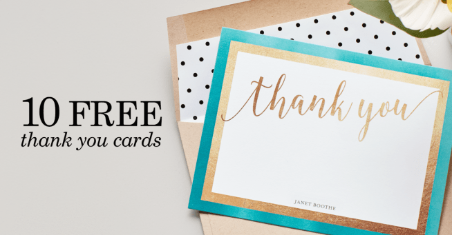 Tiny Prints - 10 Free Thank You Cards