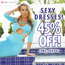 Sexy dresses 45% off at AMIclubwear.com with code SEXY45