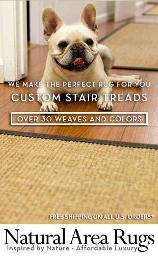 Having trouble finding the correct color combination with your Eco-Friendly Natural Fiber Stair treads? No need to worry! We offer over 20 different weaves fully customizable to include 19 different 100% cotton bindings!