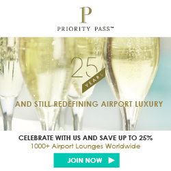 Priority Pass 25th Anniversary