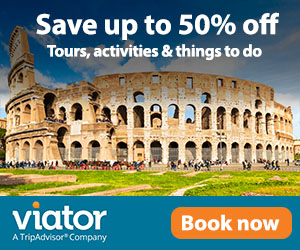 Save up to 50% off Viator tours logo