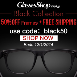 Classic black collection. 50% off frames +free shipping. Use code black50. Offer ends 12/1/2014. Shop now!