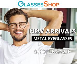 New Arrival!  Shop NOW for metal eyeglasses at GlassesShop.com!