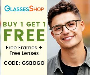 Buy 1 Get 1 Free (Free Frames + Free Lenses) at GlassesShop.com with code GSBOGO. Offer expires 4/10/2021.