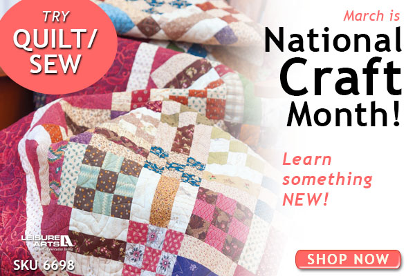 National Craft Month Quilt Sew