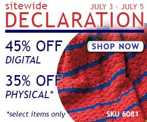 2015 July 4 Sitewide Sale LeisureArts.com