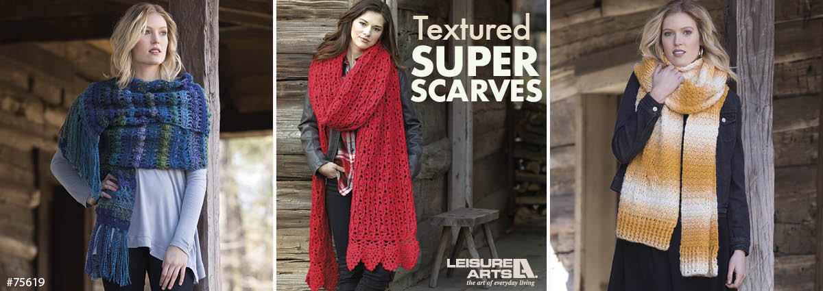 Crochet Textured Super Scarves