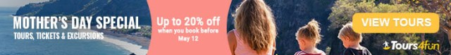 Mother's Day Sale -- Get up to 20% off tours worldwide with Tours4Fun!