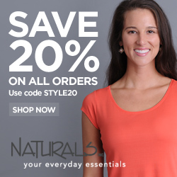Save 20% At Naturals Inc, Code STYLE20