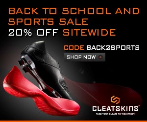 Free shipping and 10% off all Cleatskins orders