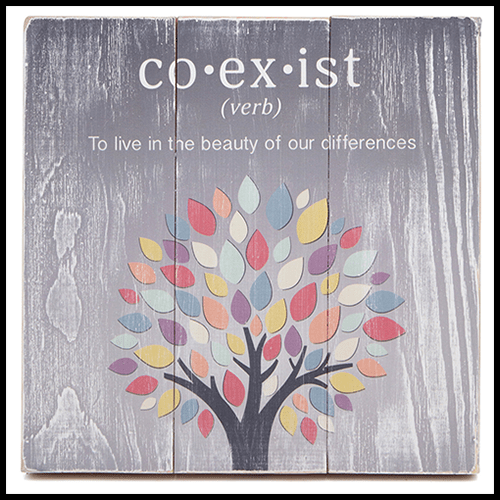 Coexist Tree of Life Wall Art