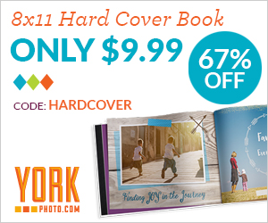 8X11 Custom Cover Hardbound Photo Book – Just $9.99 – Save $20!