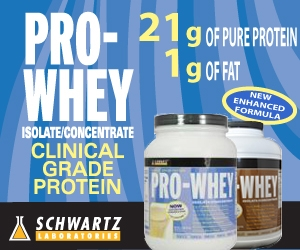 ProWhey Premium Whey Protein Isolate Blend from Schwartz Labs