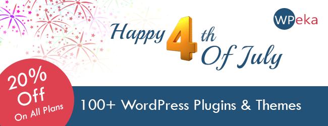 4th July Sale WPeka Club - Over WordPress Plugins & Themes 20% Off
