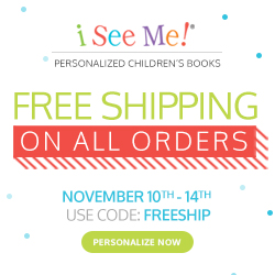 Free Shipping on all orders at ISeeMe! Use code FREESHIP during checkout. Expires 11.14.16