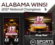 Shop for Authentic Alabama Crimson Tide CFP National Champs Collectibles at SportsMemorabilia.com