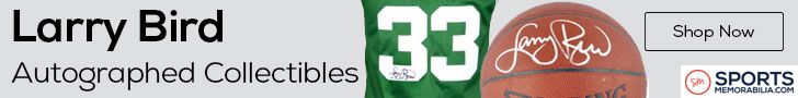Shop for Autographed Larry Bird Collectibles at SportsMemorabilia.com