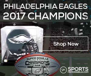 Shop for Authentic Autographed Philadelphia Eagles Super Bowl 52 Champs Collectibles at SportsMemorabilia.com