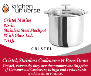 Cristel Mutine 8.5-in Stainless Steel Stockpot With Glass Lid, 7.5 Qt