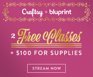 An Exclusive Gift for You - 2 FREE Classes + $100 For Supplies! Get two free classes and $100 to spend on supplies when you sign up for a year of Bluprint. Unwrap the gift of creativity. Valid 12/1-12/12/18 at myBluprint.com.