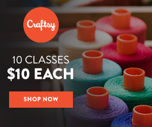 10 Classes for $10 Each Today Only! Spring has sprung at Craftsy and it's time to dust off some new skills! Snag 10 of our classic, most-loved classes for just $10 per class. Hurry! Deal ends March 20, 11:59 PM Mountain Time.