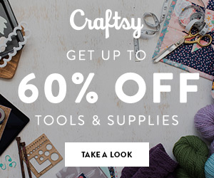 Up To 60% Off Tools & Supplies at Craftsy.com through 5/20/18. No coupon code needed.