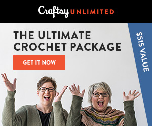 The Ultimate Crochet Package: Get a year of Craftsy Unlimited, a free crochet kit and tons of perks, all for only $120! Valid 4/21-4/28/18 at Craftsy.com