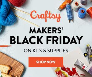 Makers' Black Friday - Shop Our Biggest Sale Of The Year & Save Up To 70% On Supplies at Craftsy.com 8/3-8/6/18. No coupon code needed.