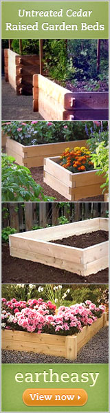 Untreated Cedar Raised Garden Beds - Eartheasy.com