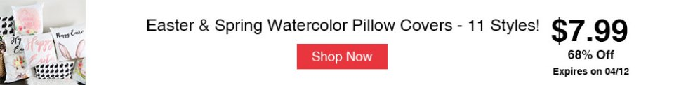 Easter & Spring Watercolor Pillow Covers - 11 Styles!
