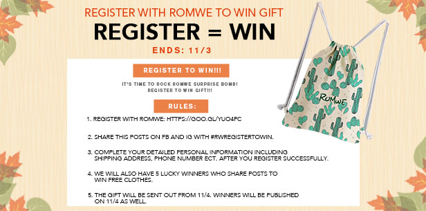 Register to win a mystery gift