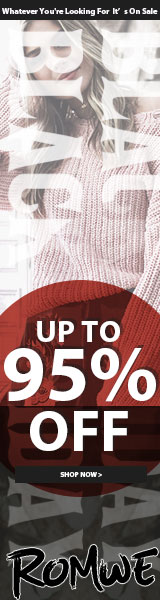 Holiday Pre Sale! Save up to 95% at us.ROMWE.com - Limited Time Offer
