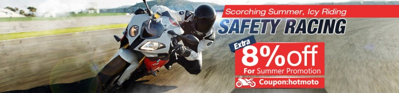 Extra 8%off for Motorcycle Summer Promotion
