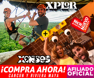 Xenses+ Xplor Parques Combo de dos parques: desafía tus sentidos + las mejores tirolesas en Playa del Carmen, México